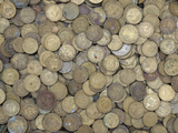 A Large Pile of Old Golden Coins