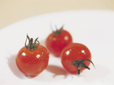 Close-up of Fresh and Juicy Clean Cherry Tomatoes