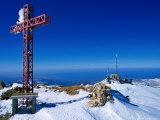 Faraya Mzaar Summit Cross in Kesrouane  Lebanon's Premier Ski Resort  Jabal Lubnan  Lebanon