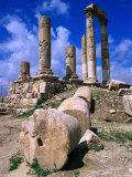 Temple of Hercules at the Citadel  Jebel Al-Qala  Amman  Jordan