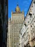 Central Tower of Foreign Affairs Ministry  Seen from Side Street Near Ulitsa Arbat  Moscow  Russia