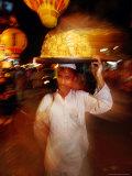 Food Seller in Bazaar  Looking at Camera  Delhi  India