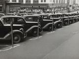 Black Cars and Meters  Omaha  Nebraska  c1938