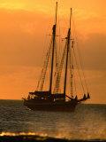 Tall-Ship Moored off Shore  Hanga Roa  Easter Island  Valparaiso  Chile