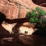 Hikers in Coyote Canyon  Escalante Wilderness  Escalante  USA