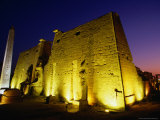 Ancient Temple at Night  Luxor  Egypt