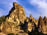 Honeycombed Network of Tunnels Carved into Volcanic Rock of the Kale  Uchisar  Nevsehir  Turkey