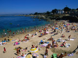 People on Beach  Monterey Bay  USA