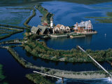 Centre of Aquiculture Estate on Lagoon of Venice  Veneto  Italy