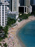 Aerial View of Waikiki Beach  Honolulu  USA