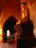 Golden Statue of Buddha in Sulamani Temple  Bagan  Mandalay  Myanmar (Burma)
