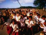 Playtime for School Children of Watu Karere  Sumba  East Nusa Tenggara  Indonesia