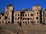 Damaged Darulaman Palace (Kings Palace)  Home of King Zahir Shah  Kabul  Afghanistan