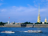 Neva from Troisky Bridge  St Petersburg  Russia