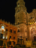 Cathedral with Palacio Episcopal  Malaga  Spain