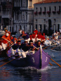 Caorline Regatta During Historiccal Regatta Pageant in Grand Canal  Venice  Veneto  Italy