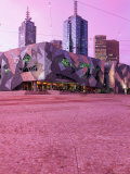 Federation Square at Dusk  Melbourne  Australia