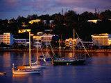Boats in Harbour and Town Buildings  Port Vila  Vanuatu