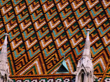 Detail of Roof of Matthias Church  Budapest  Pest  Hungary