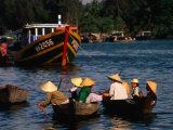 Boat Traffic in Hoi An  Hoi An  Quang Nam  Vietnam