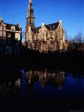 Westerkerk and Keizersgracht Canal  Amsterdam  Netherlands