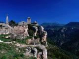 Church in Cliff-Top Village  Siurana  Catalonia  Spain