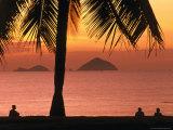 People on Nha Trang Beach at Sunrise  Nha Trang  Khanh Hoa  Vietnam