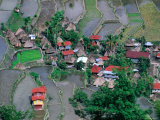 Overhead View of Village and Rice Terraces  Batad  Philippines