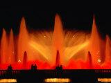 La Font Magica Lit Up at Night  Montjuic  Barcelona  Spain