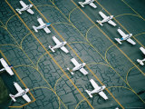 Aerial of Light Aircraft Parked on the Tarmac at Moorabbin Airport  Melbourne  Australia