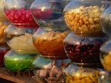 Jars of Fruit for Sale at Street Market Bangkok  Thailand
