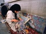 Women Weaving Carpets in Factory  Esfahan  Iran