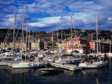 Yachts and Sailing Boats in the Historic Harbour  Genova  Liguria  Italy