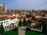 Vrtbov Garden and Rooftops of Mala Strana  Prague  Czech Republic