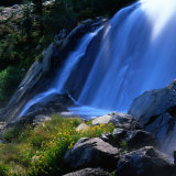 Waterfall  Sierra Nevada Mountains  Ansel Adams Wilderness Area  USA