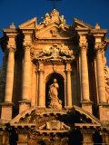 Baroque Facade of Il Duomo  Syracuse  Sicily  Italy