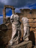 Statues of the Two Goddesses Demeter and Persephone  Cyrene  Darnah  Libya