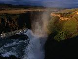 Gulfoss Waterfall and Canyon at Sunrise  Gullfoss  Vesturland  Iceland