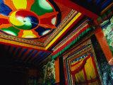 Decorative Entrance to Pyenzhangling Monastery in Zhonggang  Tsang District  Tibet