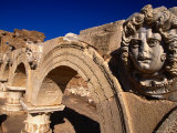 Gorgon Medusa Head on the Arches of the Severan Forum  Leptis Magna  Al Khums  Libya