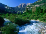 The River Ara and Mondarruego in the Pyrenees  Torla  Aragon  Spain