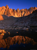 Rocky Crags in the Sierra Nevada Mountain Range and Small Lake  Inyo National Forest  USA