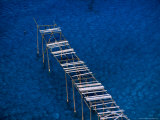 Abandoned Pumice Quarry Jetty Sicily  Italy