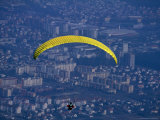 Paraglider Above the City  Maribor  Stajerska  Slovenia