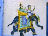 Moghul-Style Wall Decoration  Udaipur  Rajasthan  India