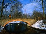 Historic Stone Bridge in Frederiksberg Have  Copenhagen  Denmark