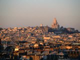 Cityscape with Sacre-Couer Basilica  Paris  France