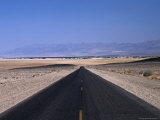Long  Straight Road Through Death Valley  Death Valley  California  USA