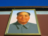 Portrait of Mao Tse Tung Over Tiananmen Square  Beijing  China