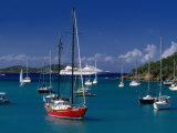 Sailing Ships and Cruise Ship in Harbour  Port Elizabeth  St Vincent & the Grenadines